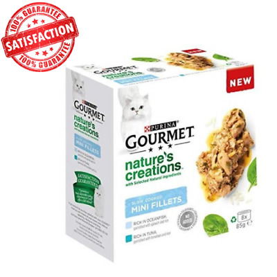 Gourmet Natures Creations Cat Food Fish, 8 X 85g Mini Fillets UK STOCK NEW • 11.99£