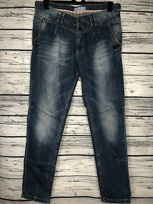 £7.99 • Buy Pull And Bear Womens Ladies Blue Jeans Size UK 14 EU 40 MEX 30