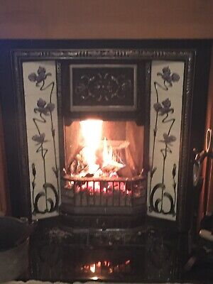 Cast Iron Fireplace / Fire Insert / Victorian Tiled Style And Hearth. • 135£