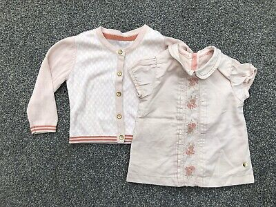 New 6-9 Months M&S Marks Spencer Baby Easter Spring Party Cardigan Top Set • 4.50£