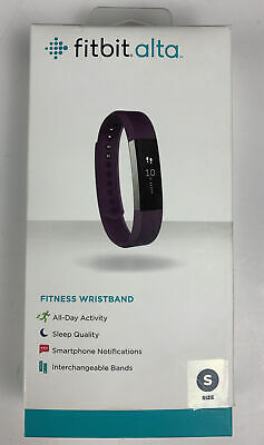$ CDN50.50 • Buy Fitbit Alta Fitness Wristband Small Stainless Steel Tracker With Plum Band