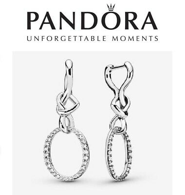 Pandora Oval Knotted Heart Drop Earrings • 39.99£