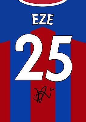 £5.99 • Buy EBERECHI EZE Signed CRYSTAL PALACE Poster Printed Photo Autograph Shirt Gift