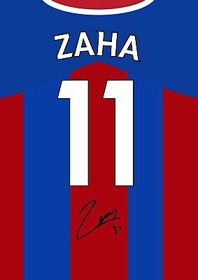 £5.99 • Buy WILFRED ZAHA Signed CRYSTAL PALACE Poster Printed Photo Autograph Shirt Gift