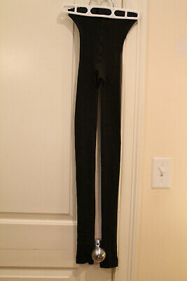 WOLFORD Brown Merino Ribbed Leggings Wool Footless XS Extra Small EUC $75 • 35.38£