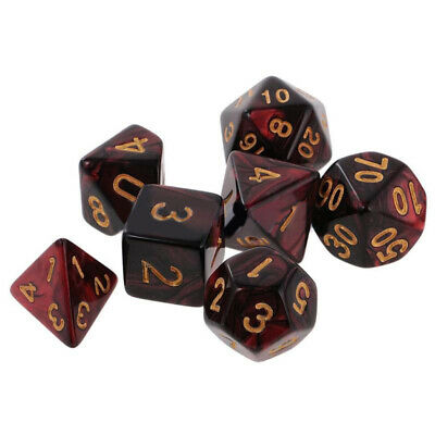 AU9.89 • Buy 7x/set 10-Sided Polyhedral Dice Acrylic For TRPG Dungeons & Dragons D4-D10 Game