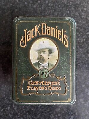 Jack Daniels Gentlemen's Playing Cards Old N 7 Sealed Packages In Tin Box • 19.99£