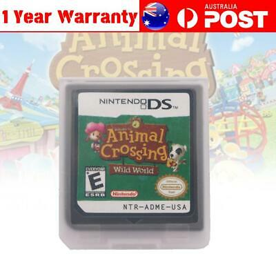 AU20.99 • Buy Game Card For Nintendo 3DS NDSI NDSL NDS Cartridge Animal Crossing Wild World