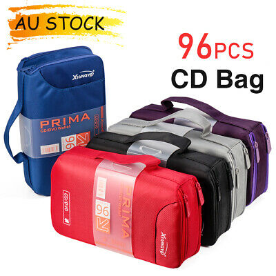 AU29.43 • Buy 96 CD DVD DISC Holder Portable Album Storage Case Wallet Carry Bag Organizer Box