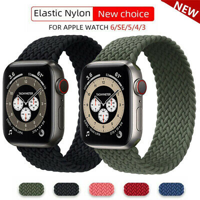 $ CDN6.29 • Buy Nylon Braided Solo Loop Strap Band For Apple Watch Series 6 SE 5 4 3 42/40/44 MM