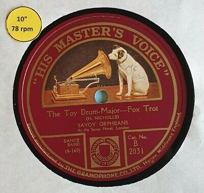 Savoy Orpheans The Toy Drum Major When I Think Of You Savoy Hotel HMV 78 Record • 10£