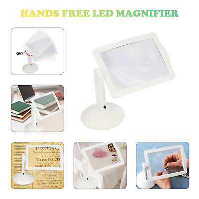 LED Magnifying Glass With Light Lamp Hands Free White Magnifier Foldable Clamps • 8.89£