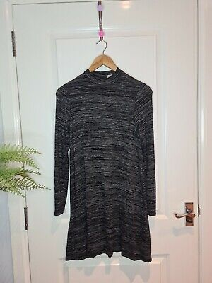 H&M Divided Long Sleeve Black Straight Dress - Size 10 • 3.23£