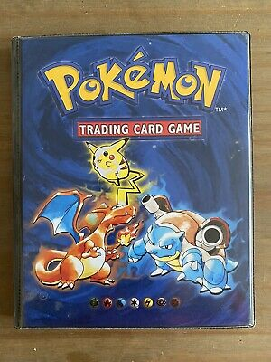 Pokemon Cards Base Set Complete 102/102 - Original Folder - RARE! • 430£