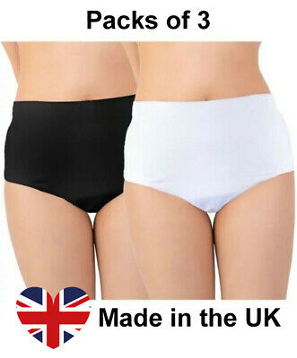 £26.49 • Buy Ladies Cotton Incontinence Brief Pants Knickers With Pad, PACK OF 3, Sizes 8-26