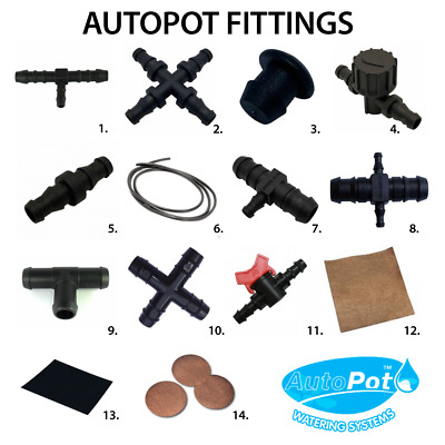 Autopot Irrigation Watering System Parts/Spare Accessories Connectors Hydro IWS • 8.50£