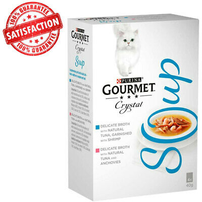Gourmet Soup Tuna And Shrimp Refined Broth - (4x40g) NEW UK STOCK • 8.99£