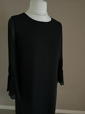 Hobbs Black Shear Sleeve Dress Size 10 • 32.99£