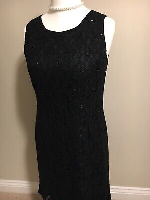 Black Monsoon Sequin Dress Size 14 • 19.99£