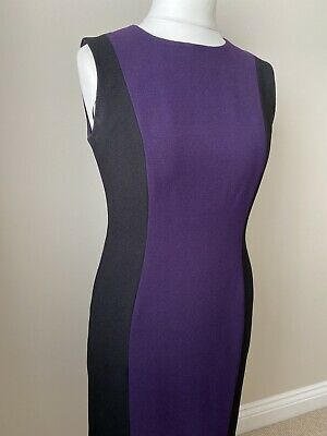 Hobbs Black/purple Dress Size 12 • 17.99£