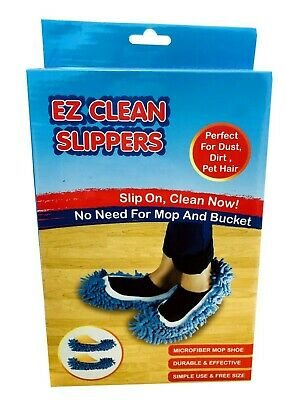 £4.65 • Buy EZ Clean Dust Mop Slippers Lazy Quick Floor Polishing House Cleaning Shoes Socks