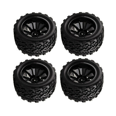 Rubber 1/10 Wheels And Tires RC Front And Rear Wheels With Foam Inserts • 17.65£