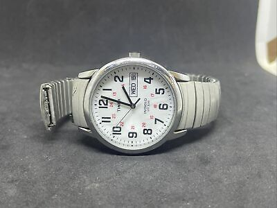 Timex T20461, Easy Reader, Men's, Silvertone Expansion Watch, Indiglo (read) #4 • 0.73£