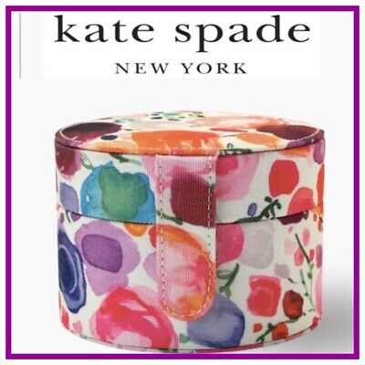 $ CDN60.60 • Buy NWT Kate Spade Round Floral JEWELRY HOLDER BOX Case Compartments TRAVEL Luggage