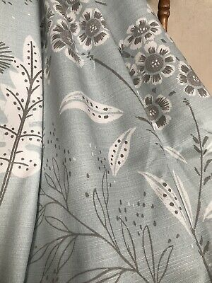 NEXT Curtains LONG Meadow Flowers Thistles Pair Duck Egg Blue W46 XD90  Eyelets  • 6.50£