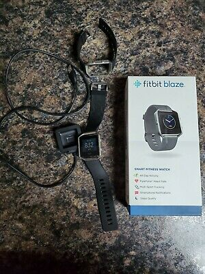 $ CDN107.35 • Buy Fitbit Blaze Smart Fitness Watch Black Large & Small Band FB502SBKL Used