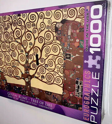$ CDN38.14 • Buy NEW SEALED 1000 Piece Puzzle Gustav Klimt Tree Of Life EuroGraphics FREE SHIP