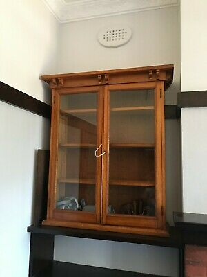 AU300 • Buy Solid Timber Antique Classic Glass Display Cupboard/cabinet Top