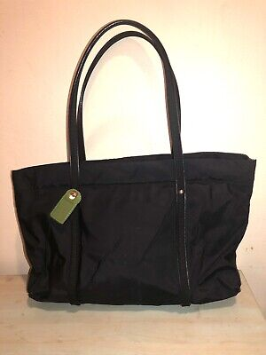 $ CDN49.36 • Buy Kate Spade New York Black Nylon And Leather Medium Tote Bag