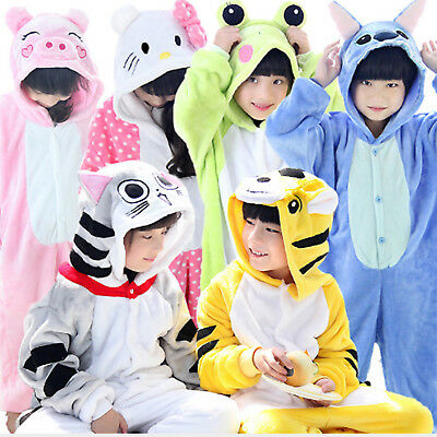 Kids Animal Cartoon Cosplay Costume Pyjamas Pajamas Home Sleepwear • 13.65£