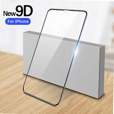 Tempered Glass Screen Protector For IPhone 12 11 Pro Max XS XR X 9D Gorilla New • 4.29£