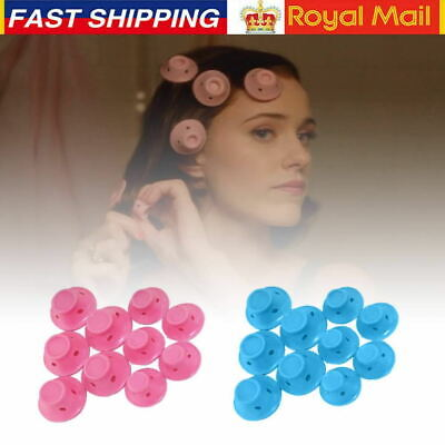 10/20/30pcs Magic Hair Curlers 2 Sets Soft DIY Silicone Rollers Care No Heat UK • 6.59£