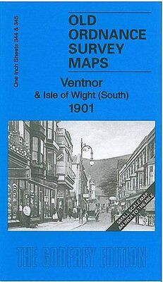 Old Ordnance Survey Map Ventnor & Isle Of Wight (south) 1901 • 3.55£