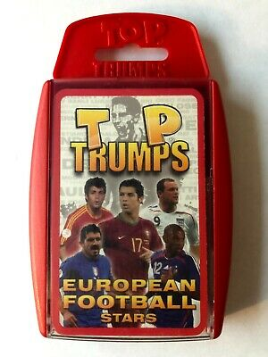 Top Trumps European Football Stars 2008 COMPLETE [Includes Cristiano Ronaldo] • 0.99£