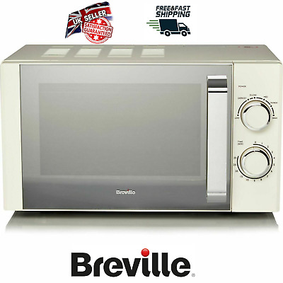 BREVILLE Microwave Cream 17 L Capacity Powerful 800 W 5 Power Levels NEW • 79.99£