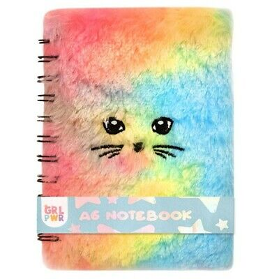 FOR KIDS - A6 Fluffy Furry Cuddly Writing Notebook - Meow. • 4.20£