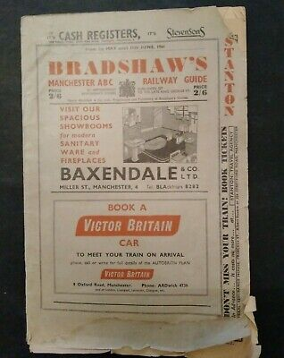 Bradshaws Manchester ABC Railway Guide 1961, A Railway Timetable, 2nd Copy • 11£
