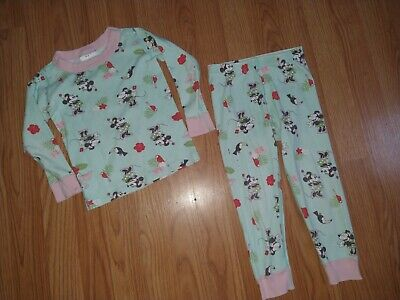 $3.50 • Buy Hanna Andersson Disney Mini Mouse Tropical Hibiscus Pajamas Size 90 3T