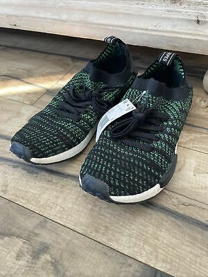 $ CDN1.27 • Buy Adidas Boost Sock Stretch Green Streifen LA 3 Stripe Shoes Originals Size 10.5