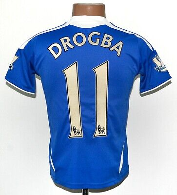 Chelsea 2011/2012 Home Football Shirt Jersey Adidas #11 Drogba Size Ym Boys • 17.99£
