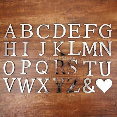 26 Letters 3D Mirror Acrylic Wall Murals Home Bedroom Living Room Stickers • 2.35£