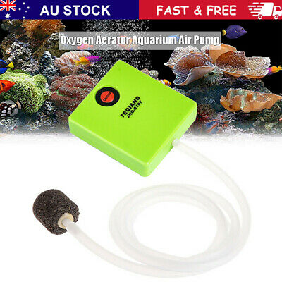 AU16.69 • Buy Aquarium Air Pump Dry Battery Operated Fish Tank Aerator Oxygen With Air Stone~