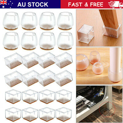 AU21.99 • Buy Silicone Chair Leg Caps Feet Pads Furniture Table Feet Cover Floor Protector AU