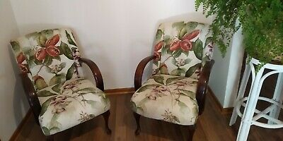 AU245 • Buy Pair Of Antique Vintage Retro Art Deco Style Arm Chairs