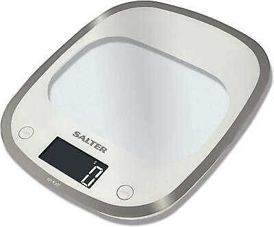 Salter Curve Aquatronic Digital Kitchen Weighing Scales – Sleek Curved Glass ... • 96.35£