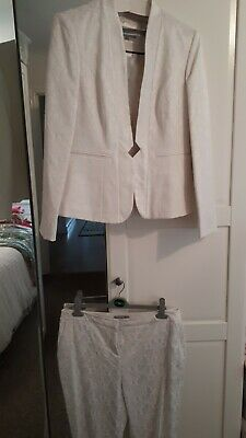 Marks And Spencer Cream Suit Size 12 & 14 • 8£